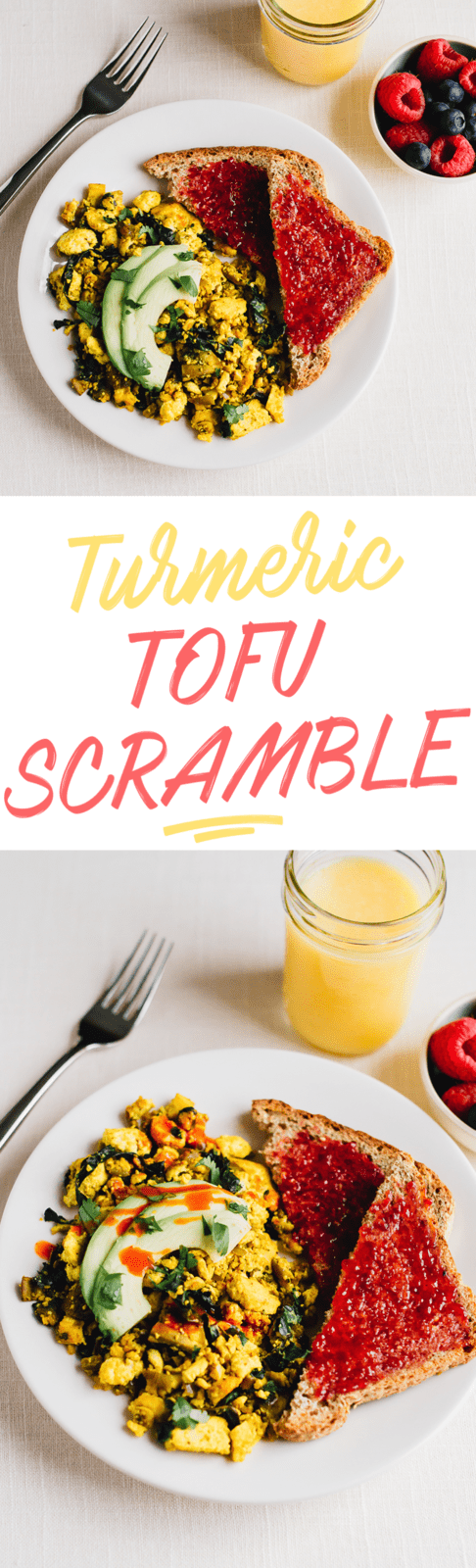 Move over eggs! You'll love the flavor of this vegan tofu scramble seasoned with turmeric, cumin and nutritional yeast! Delicious served with sliced avocado and toast.