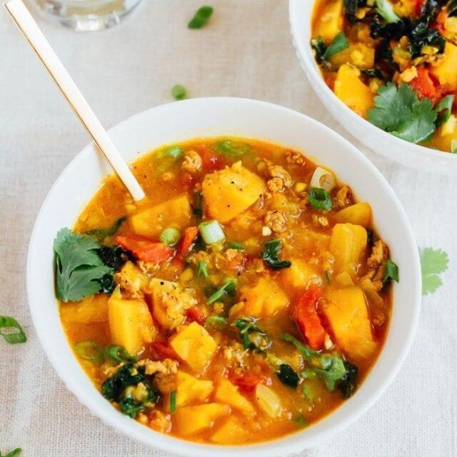Butternut Squash and Turkey Chili - Eating Bird Food