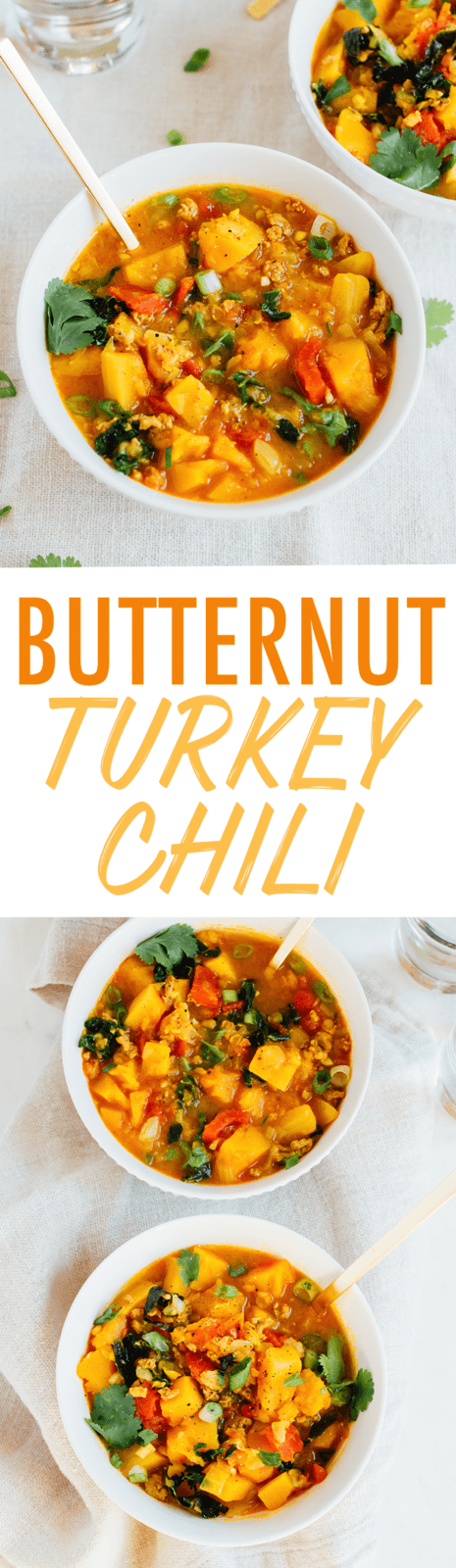 Not your average chili, this butternut squash and turkey chili features red lentils and is simmered in a creamy coconut milk and tomato broth. Make this in your pressure cooker or on the stove top!