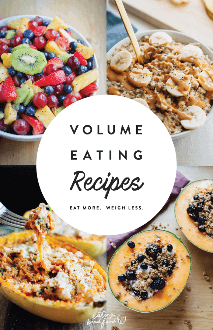 The BEST volume eating recipes for those times when you're craving a big plate of food, but still want to stick with your health and fitness goals.