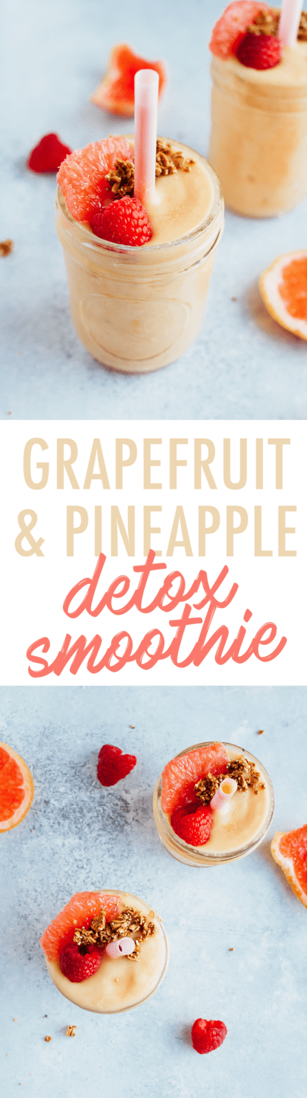 Banish bloating and boost your metabolism with this delicious Grapefruit DETOX Smoothie