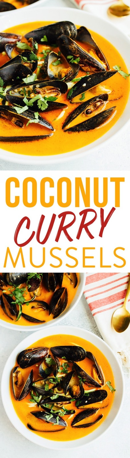 EASY COCONUT CURRY MUSSELS WITH ZUCCHINI NOODLES // paleo and gluten-free
