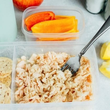 Simple Lemony Tuna Salad Packable Lunch