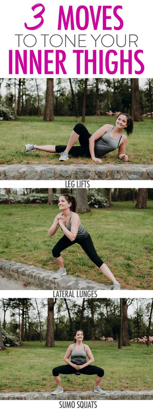 Sharing my favorite inner thigh exercises to help strengthen the muscles in this area. Three simple moves that are easy to add to your current workout routine.