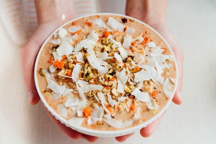 Carrot cake overnight oats 5