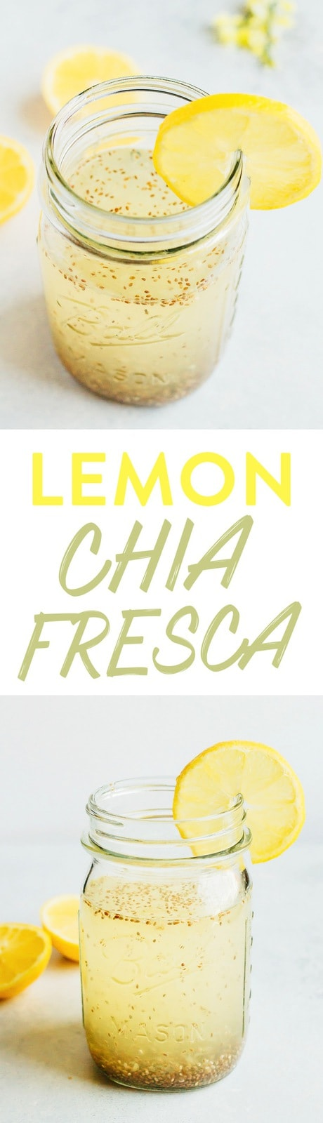 Sip on this lemon chia fresca, a refreshing lemonade-like drink with chia seeds that's great for energy and boosting your metabolism.