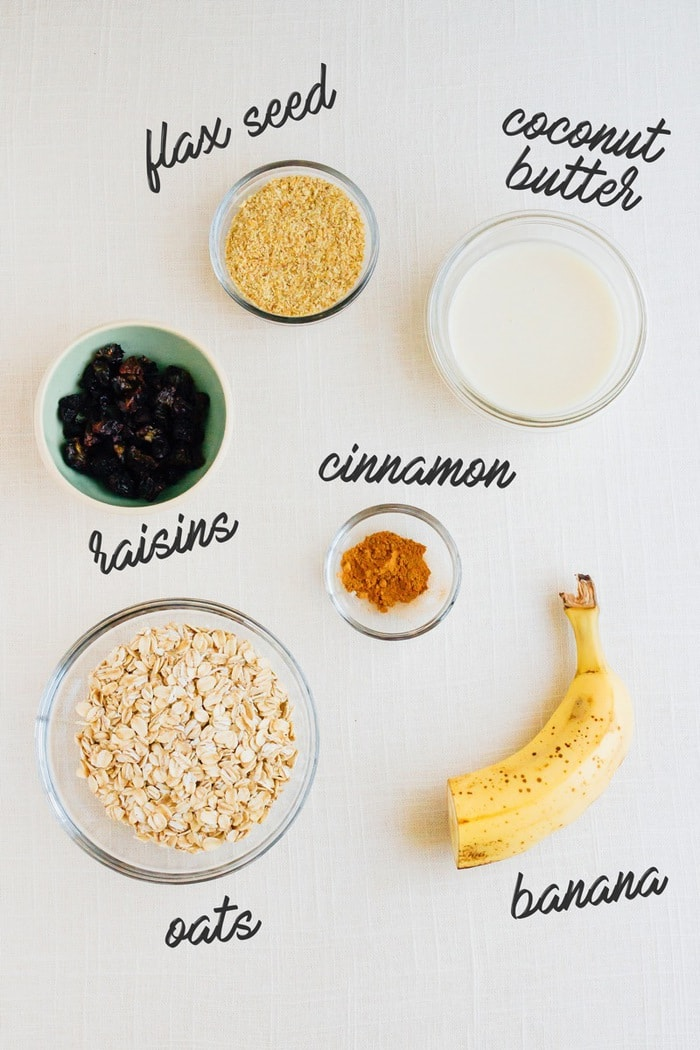 Cinnamon Raisin Oatmeal Ingredients