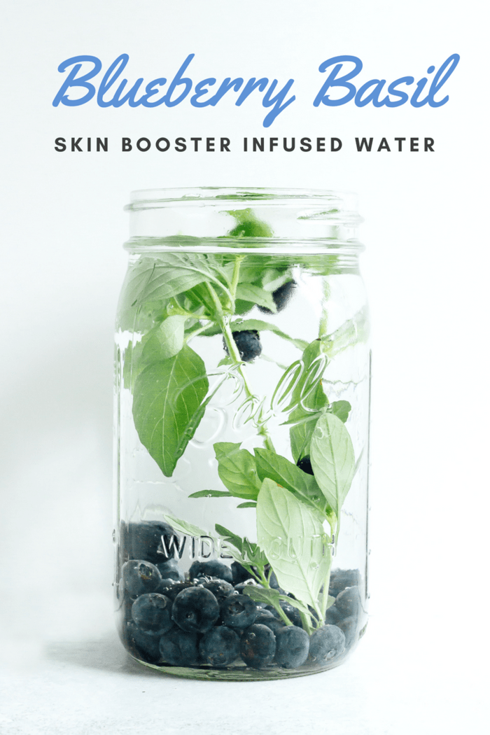 Blueberry Basil Infused Water // Skin Booster