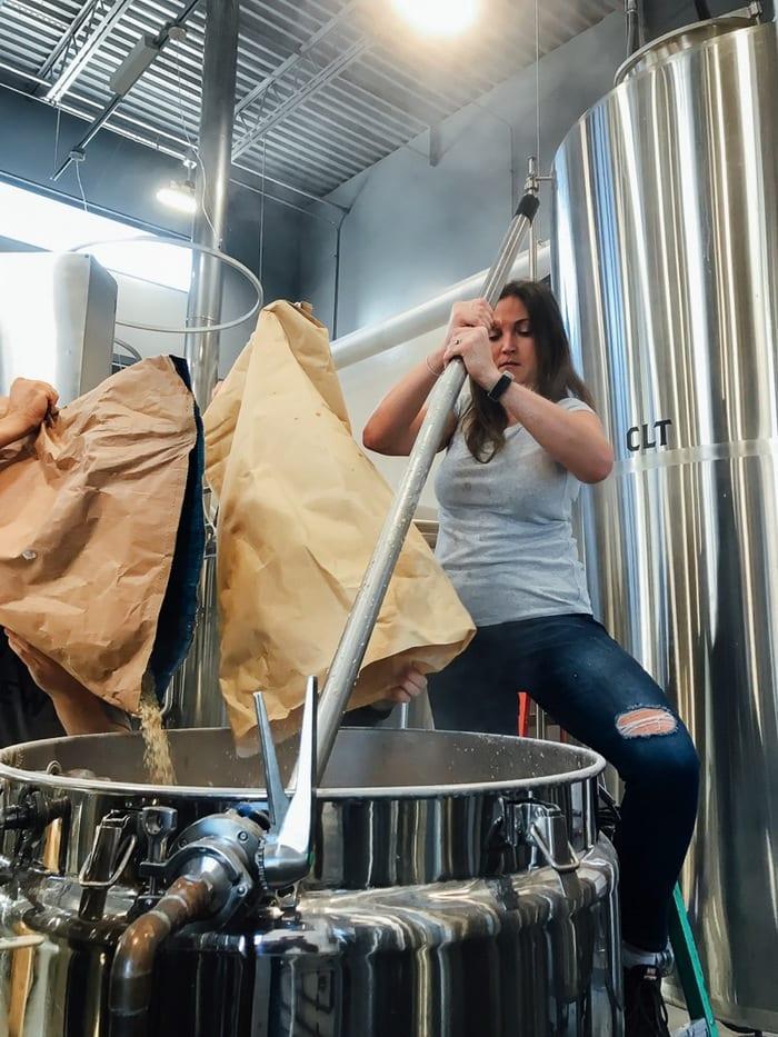 Stirring the Mash Tun // The Veil Brewing Co