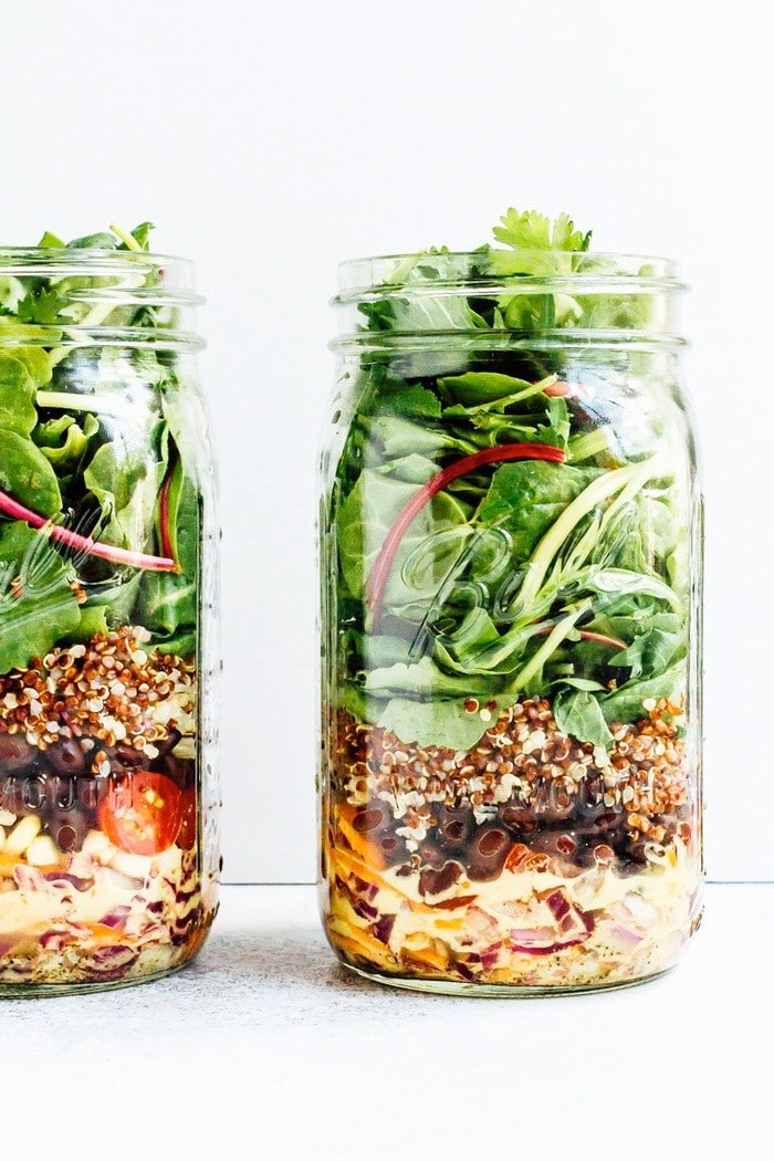 Black Bean Fiesta Mason Jar Salad