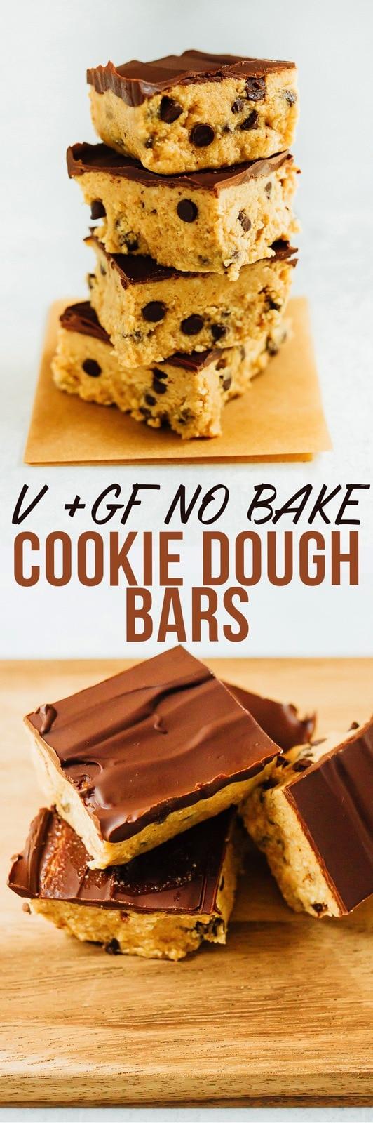 No Bake VEGAN GLUTEN-FREE Cookie Dough Bars