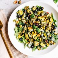 Blueberry Eggs Breakfast Salad + Salad Challenge Update