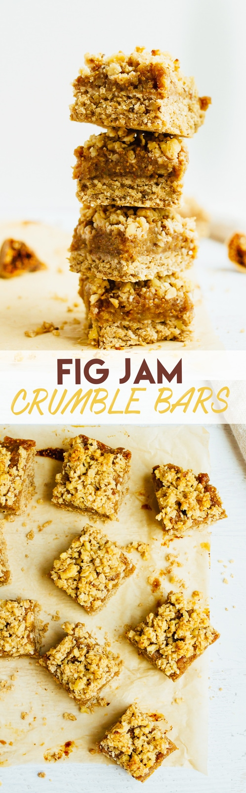 Wholesome Fig Jam Crumble Bars you can feel good about enjoying for breakfast, a snack or dessert. They're loaded with healthy fats and naturally sweetened. Recipe from The Laura Lea Balanced Cookbook.