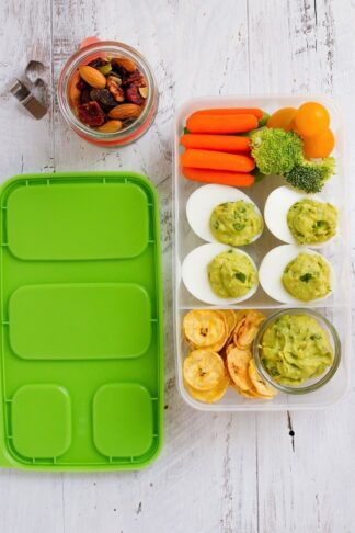 Avocado Deviled Eggs Packable Lunch
