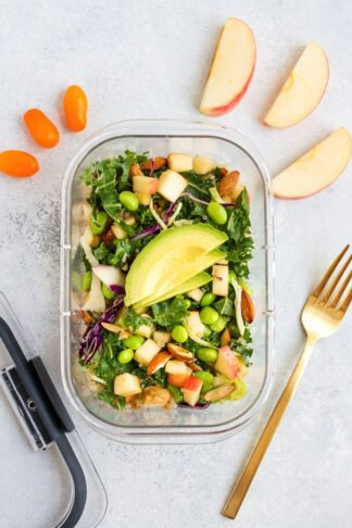 Packable Crunchy Detox Salad with Sesame Ginger Dressing