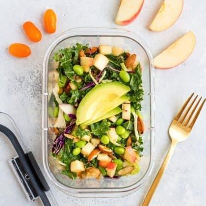 Packable Crunchy Detox Salad with Sesame Ginger Dressing (Giveaway)