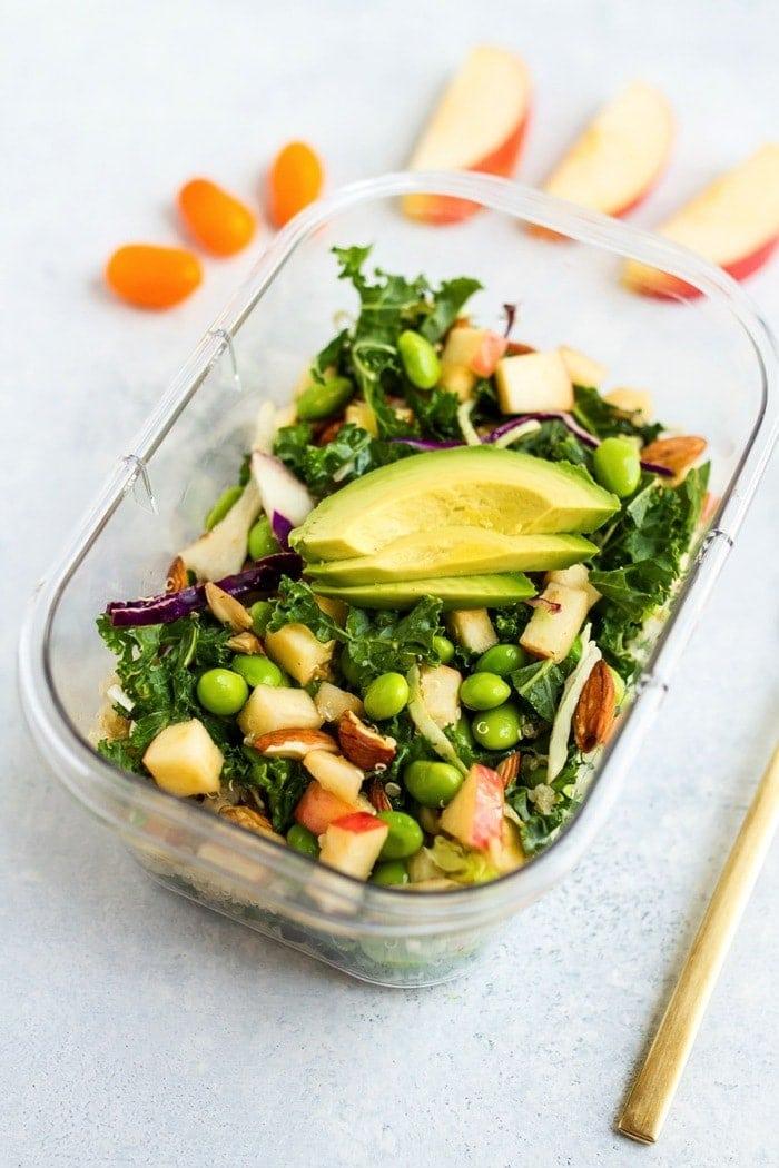 Packable Crunchy Detox Salad with Sesame Ginger Dressing