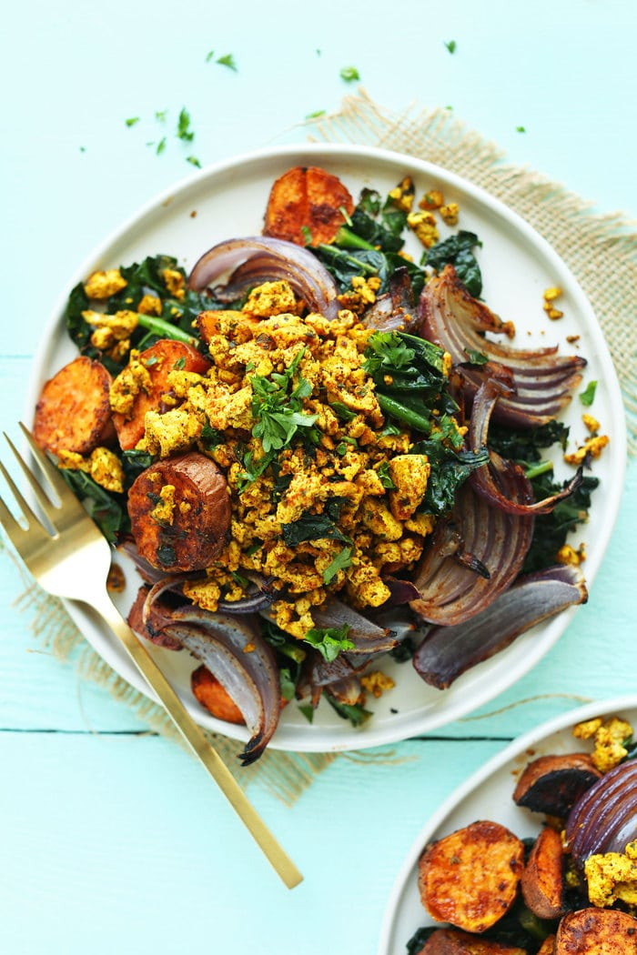 Sweet Potato & Kale Breakfast Hash from Minimalist Baker