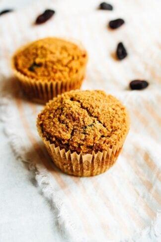 Carrot Raisin Almond Flour Muffins
