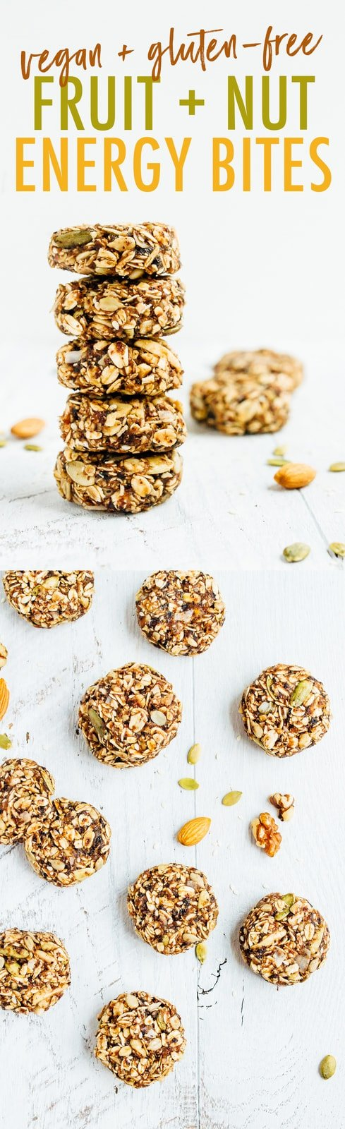 BIRD FOOD ENERGY BITES! Made with whole grain oats, nuts, seeds and dried fruit, these bites are a nutrient-rich treat perfect for on-the-go snacking. Vegan + gluten-free.