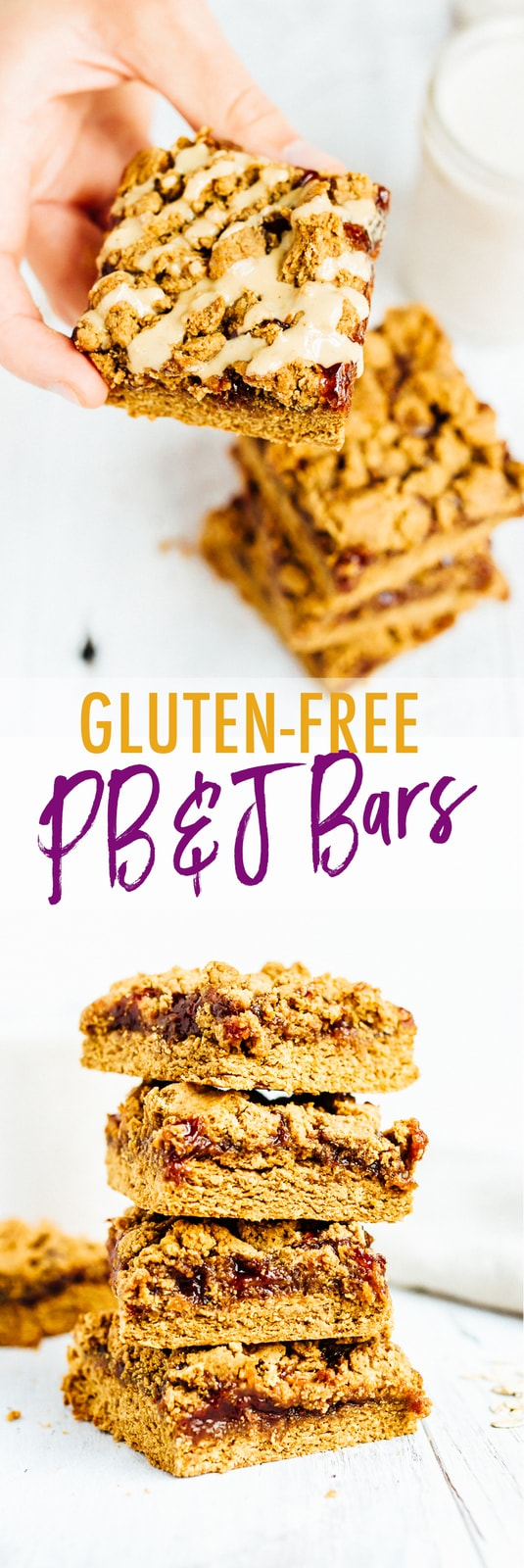 These PB&J Bars are a take on the classic sandwich we all know and love. Made with protein-packed peanut powder, oat flour, organic jam and coconut oil, you can feel good about enjoying these bars whenever you please.