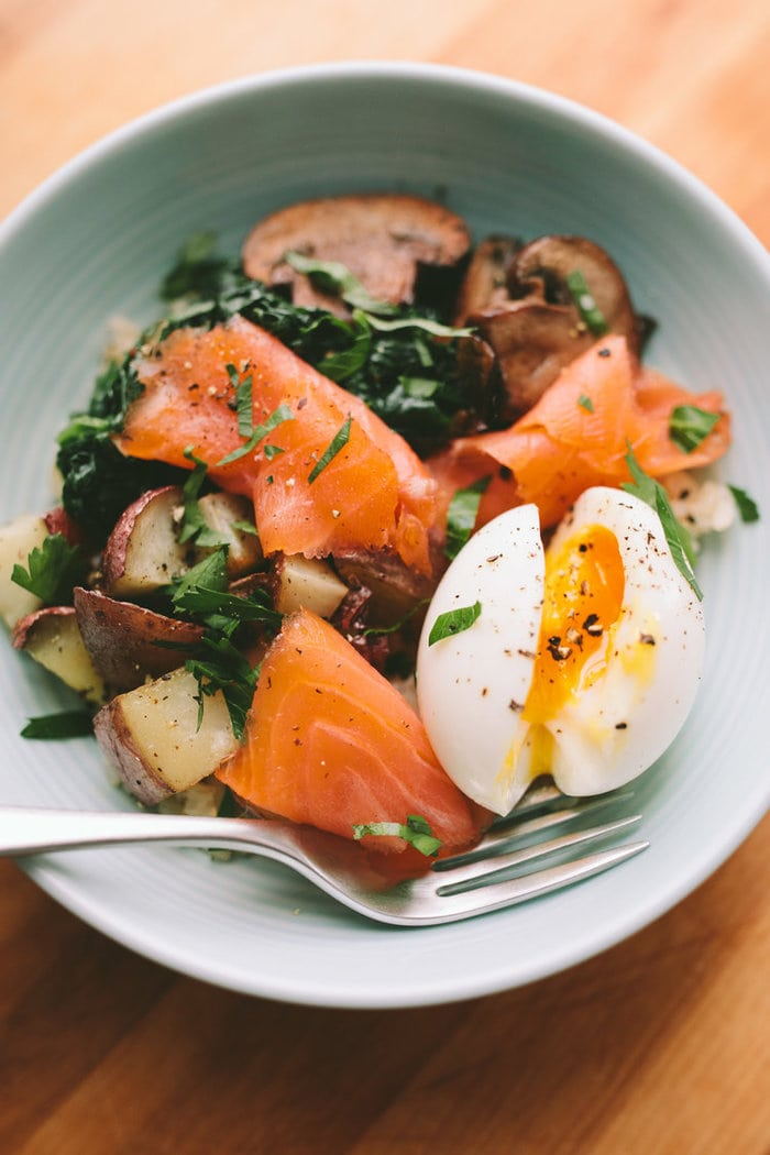 Smoked Salmon Breakfast Bowl from A Thought For Food