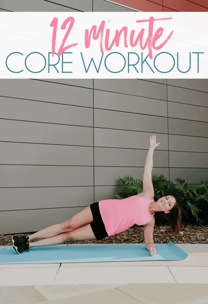 Whittle your middle with this quick and effective 12 minute core workout. Just 4 exercises for 3 rounds and no equipment needed!
