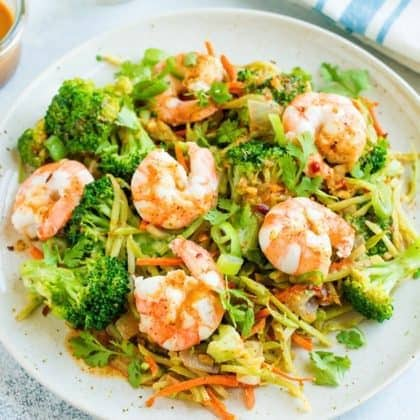 Shrimp Stir-Fry Salad