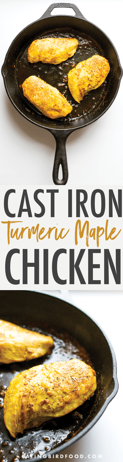 Perfectly sweet and savory, this maple turmeric chicken is a delicious way to give your body an extra anti-inflammatory boost. Great for meal prep!