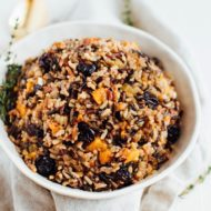 Wild Rice Stuffing with Sweet Cherries