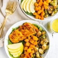 Roasted Harvest Bowls with Apple Cider Dressing