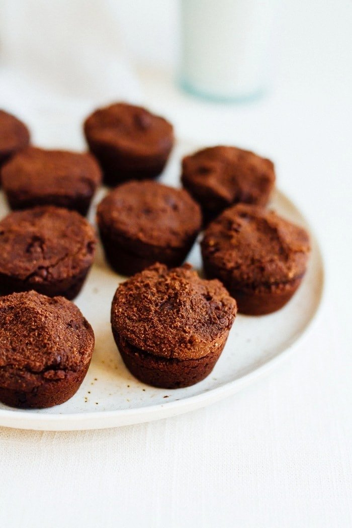 Sneak some veggies into your brownies with these vegan + gluten-free sweet potato brownie bites. No one has to know the secret ingredient.