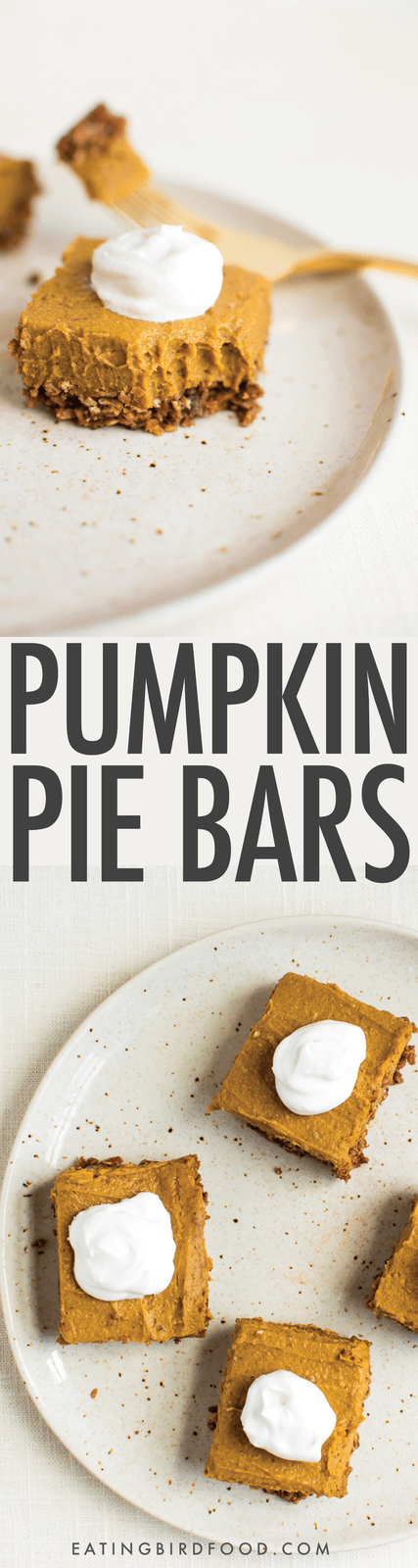 No Bake Pumpkin Pie Bars