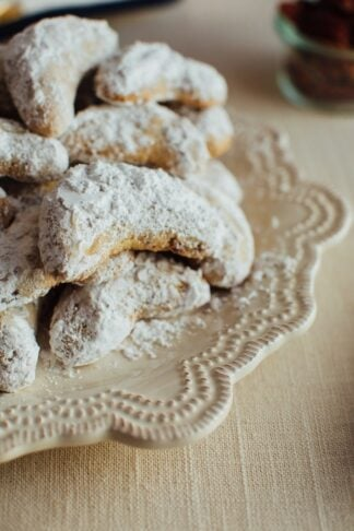 Gluten-Free Almond Flour Crescent Cookies