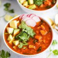 Mexican Sweet Potato Chicken Soup