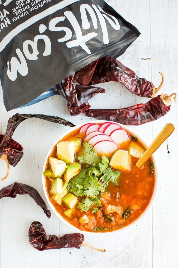 Mexican Sweet Potato Chicken Soup with Guajillo Mexican Peppers // Gluten-free, Paleo and Whole30 approved