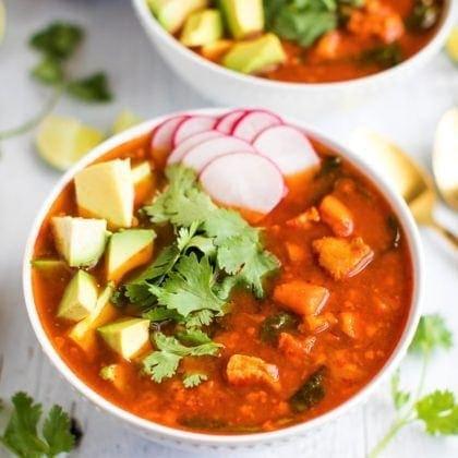 Mexican Sweet Potato Chicken Soup