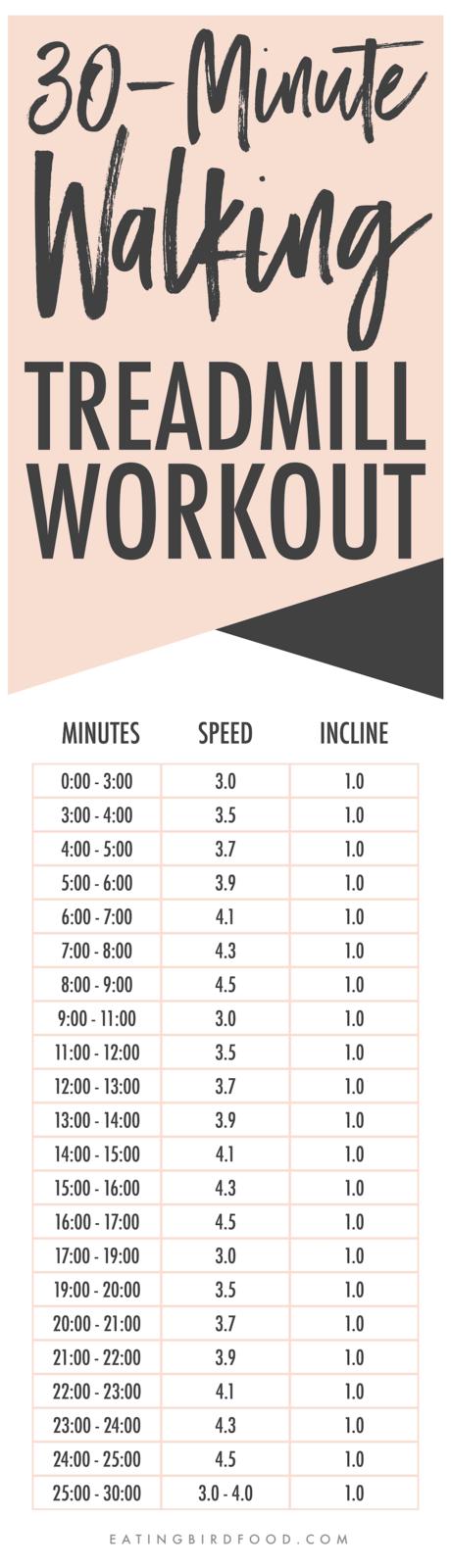 30-Minute Walking Treadmill Workout