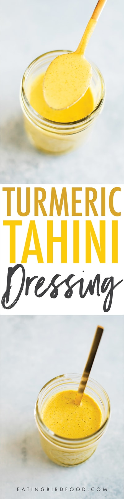 Golden Turmeric Tahini Dressing
