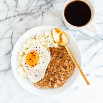 Sweet + Savory Egg and Oatmeal Combo Bowl