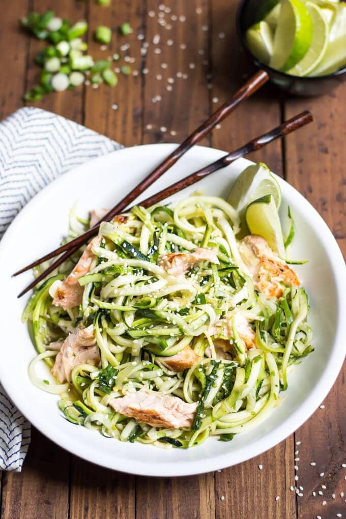 salmon zucchini noodles