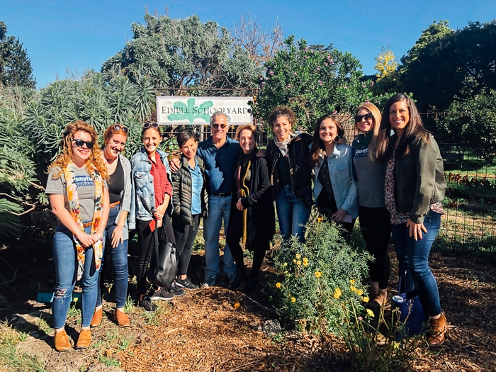 At the Edible Schoolyard in Berkley CA with Alice Waters