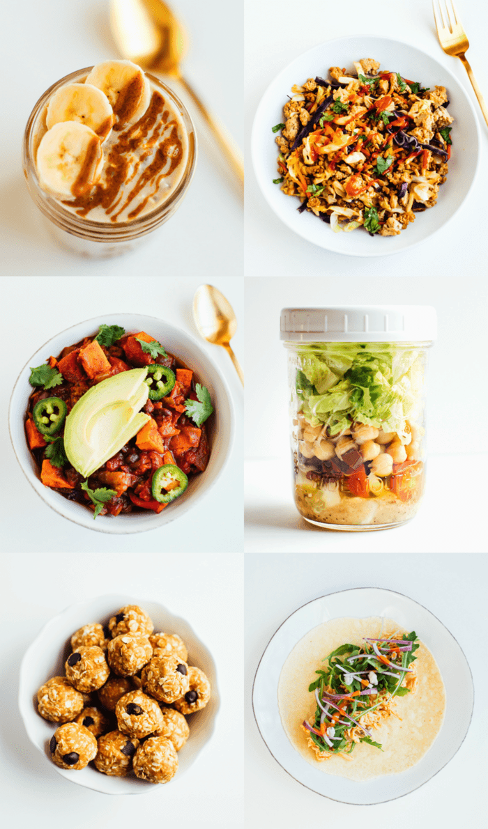 A collage of recipes from Fit With Five