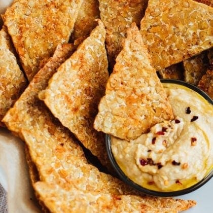 BBQ Baked Tempeh Chips