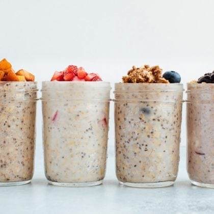 Summer Fruit Overnight Oats – 4 Ways (Video)