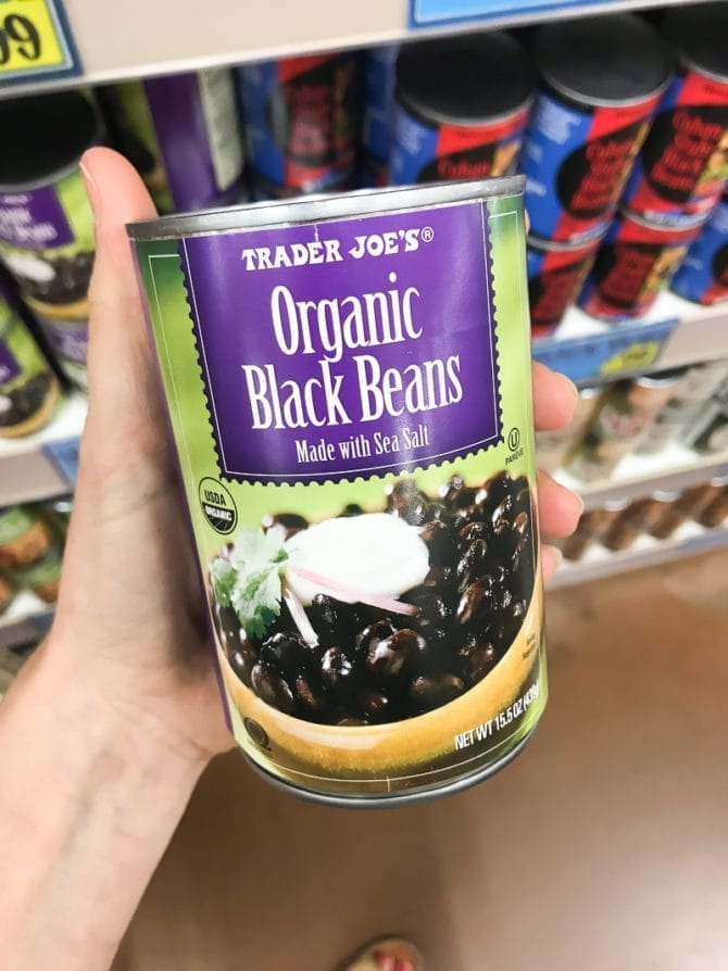 Can of organic black beans.