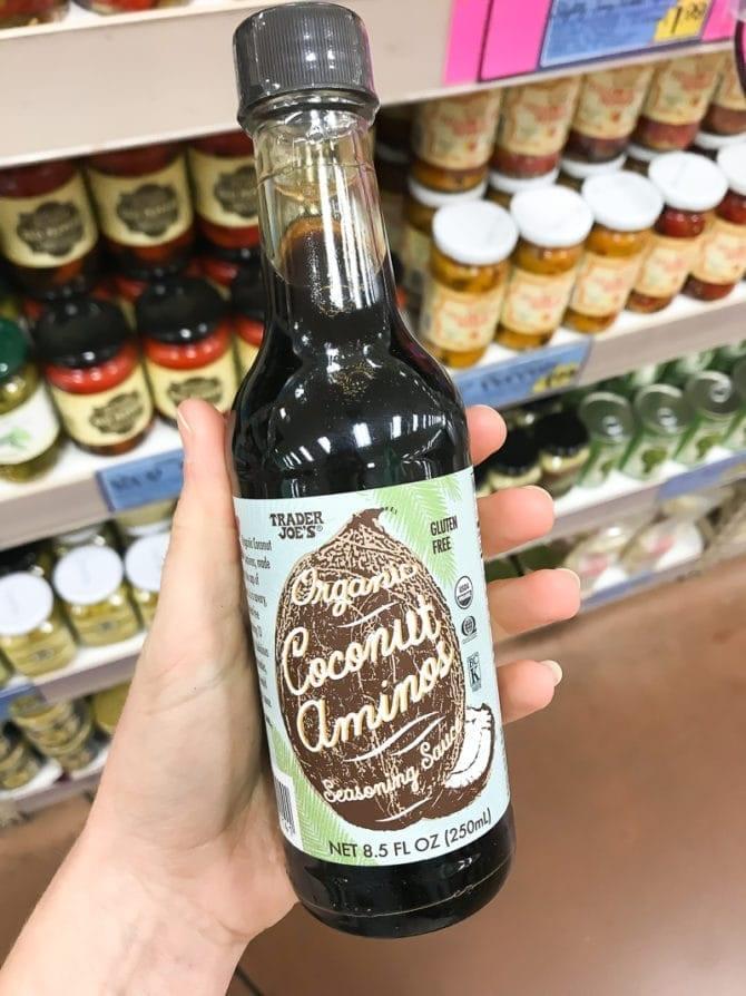 Bottle of Organic Coconut Aminos.