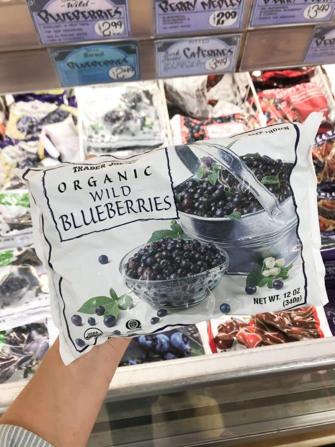 Package of organic wild blueberries.