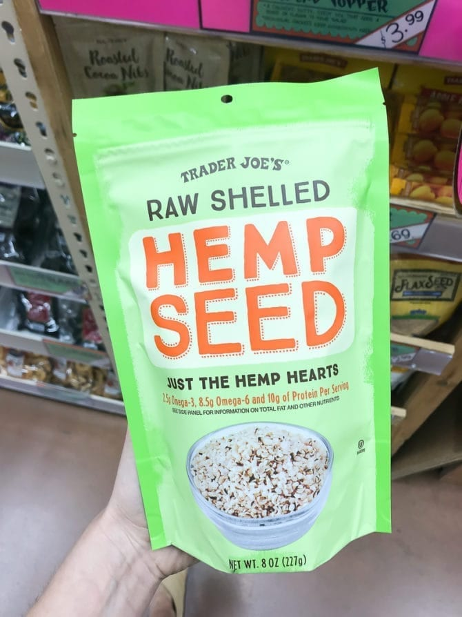 Package of Raw Shelled Hemp Seeds.