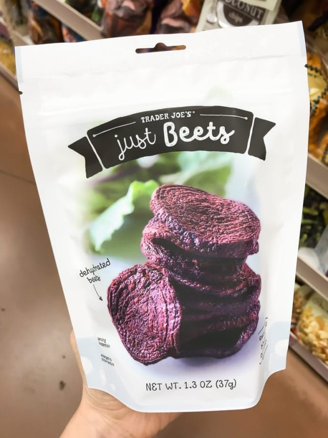 Package of Trader Joe's Just Beets.